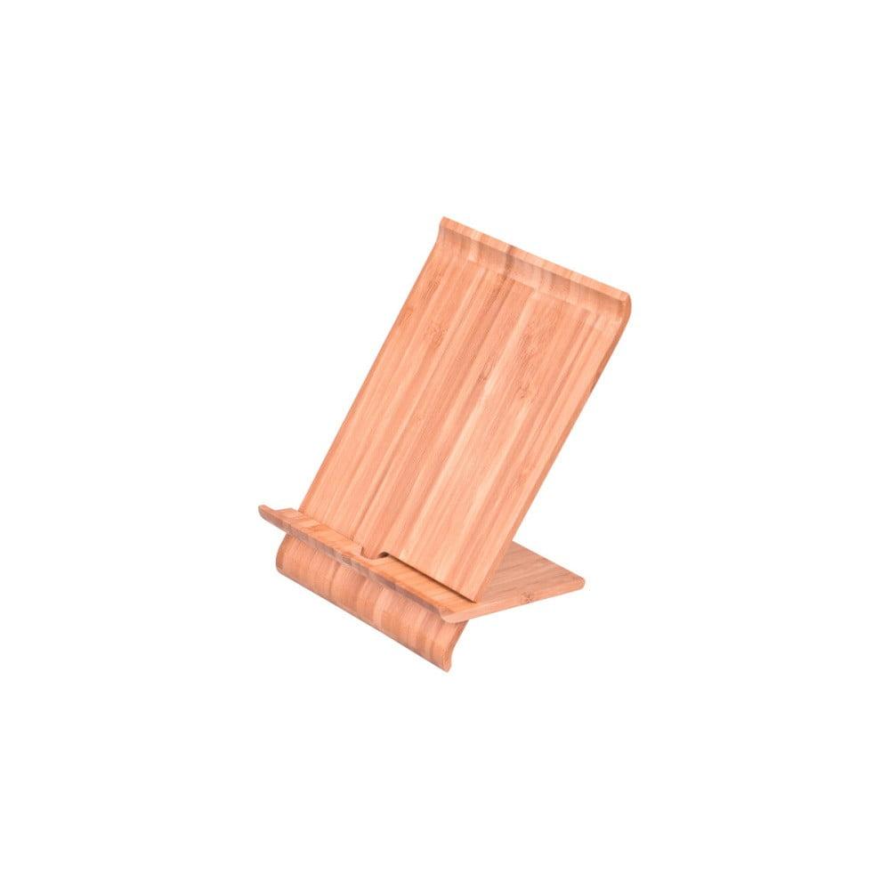 Stojan na mobil/tablet z bambusovejho dreva Bambum, výška 28 cm