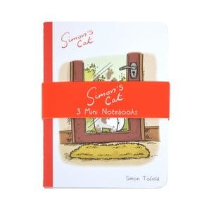 Sada 3 malých zápisníkov Portico Designs Simon's Cat