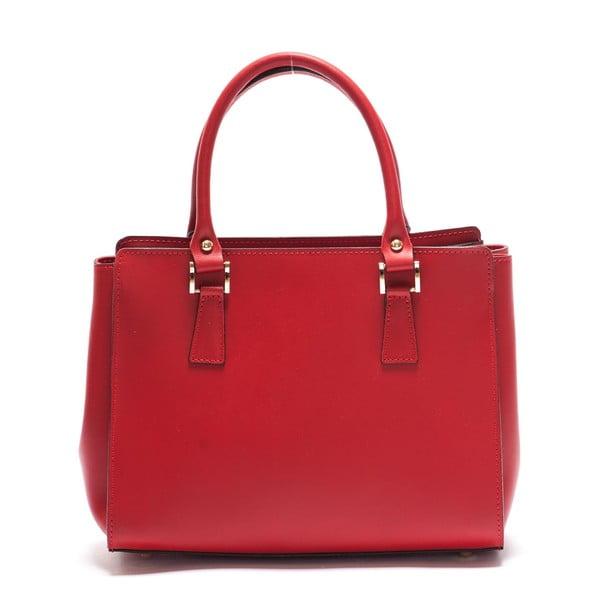 Kožená kabelka Mangotti 3040, červená
