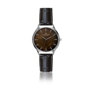 Dámske hodinky s čiernym remienkom z pravej kože Frederic Graff Lismo