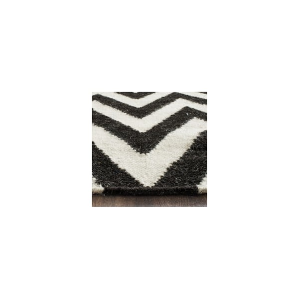 Vlnený koberec Nellaj 152x243 cm, čierny
