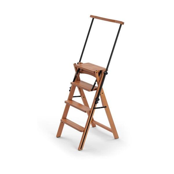 Skladacia stolička a schodíky v jednom z bukového dreva Arredamenti Italia Eletta