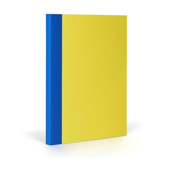 Zápisník FANTASTICPAPER XL Lemon/Blue, riadkovaný