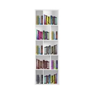 Biela drevená knižnica Esidra Efran