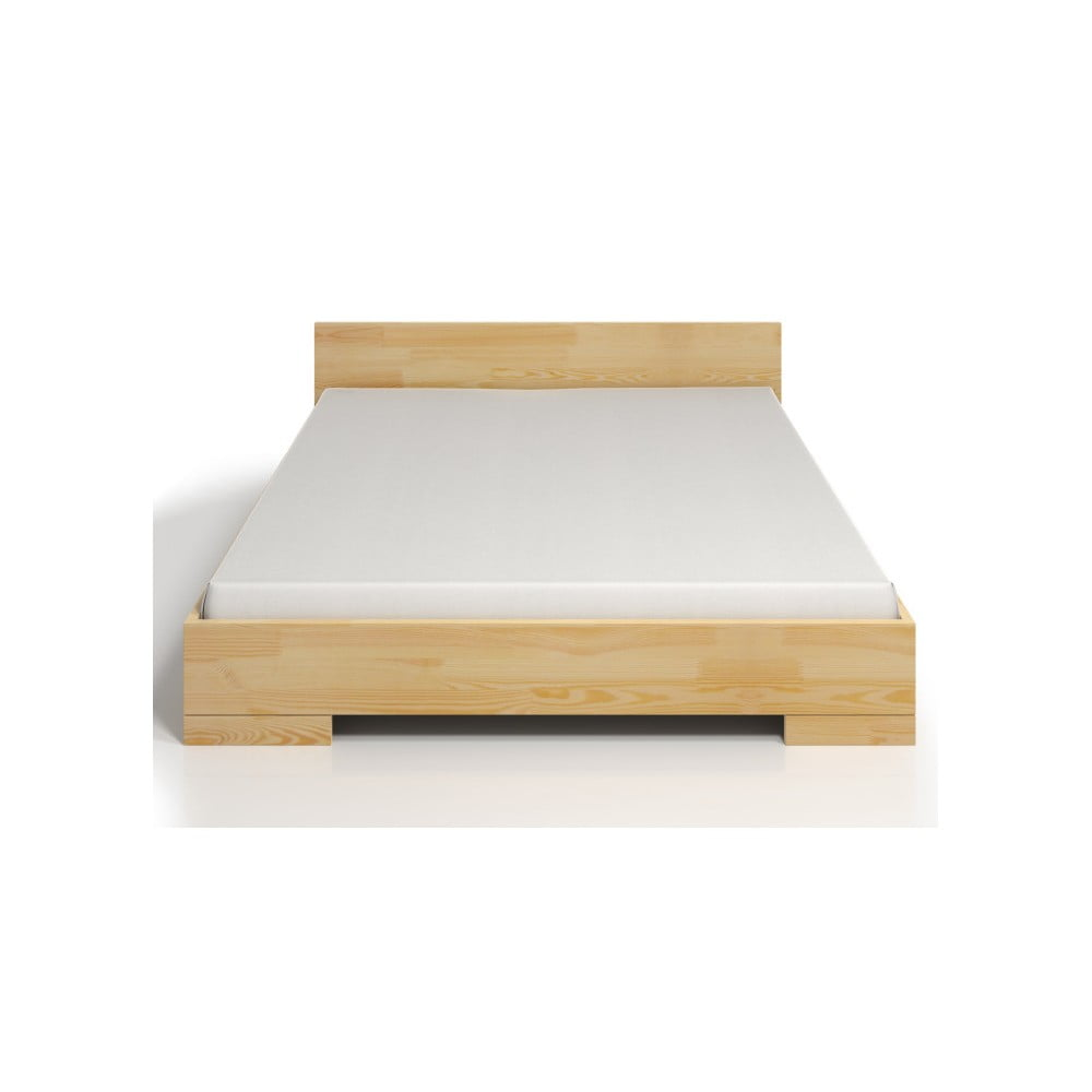 Dvojlôžková posteľ z borovicového dreva s úložným priestorom SKANDICA Spectrum, 200 × 200 cm