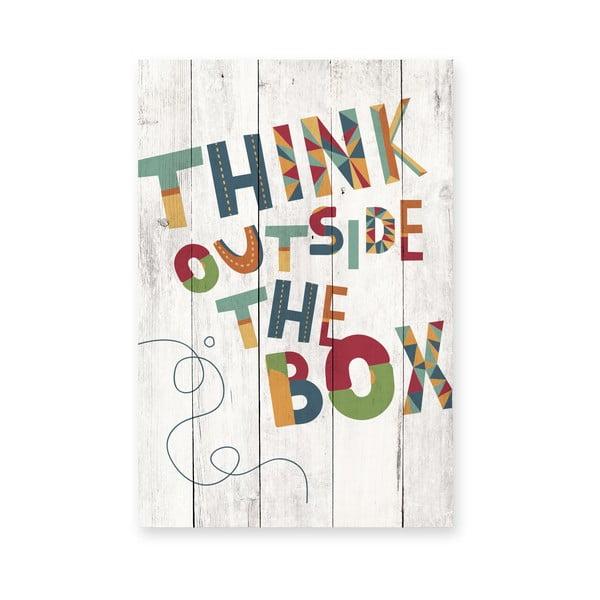 Drevená ceduľa Really Nice Things Outside The Box