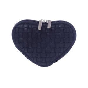 Semišová kapsička na mince Heart Blue
