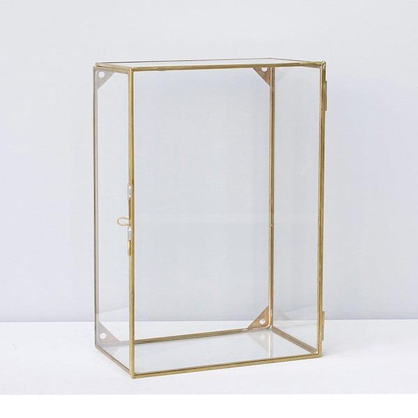 Závesný box Glass Brass