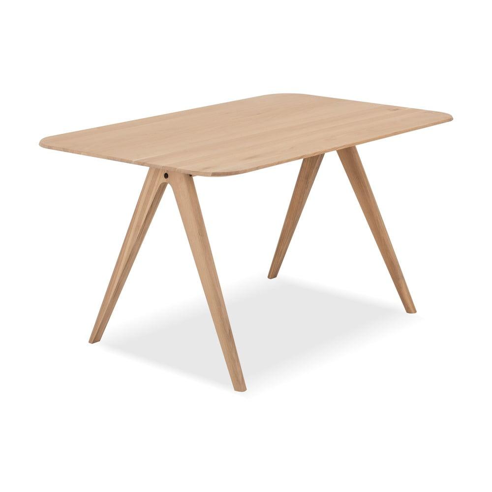 Jedálenský stôl z dubového dreva Gazzda Ava, 140 x 90 cm