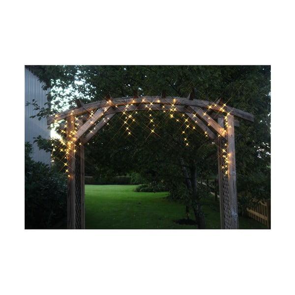 Vonkajšia svetelná LED reťaz s bielymi diódami Best Season, 144 svetielok