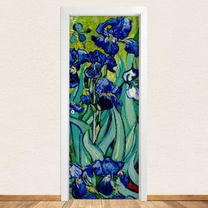 Samolepka na dvere LineArtistica Iris, 80×215 cm