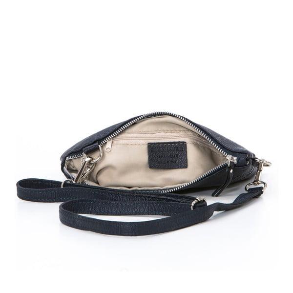 Kožená kabelka Alberto, tmavo modrá