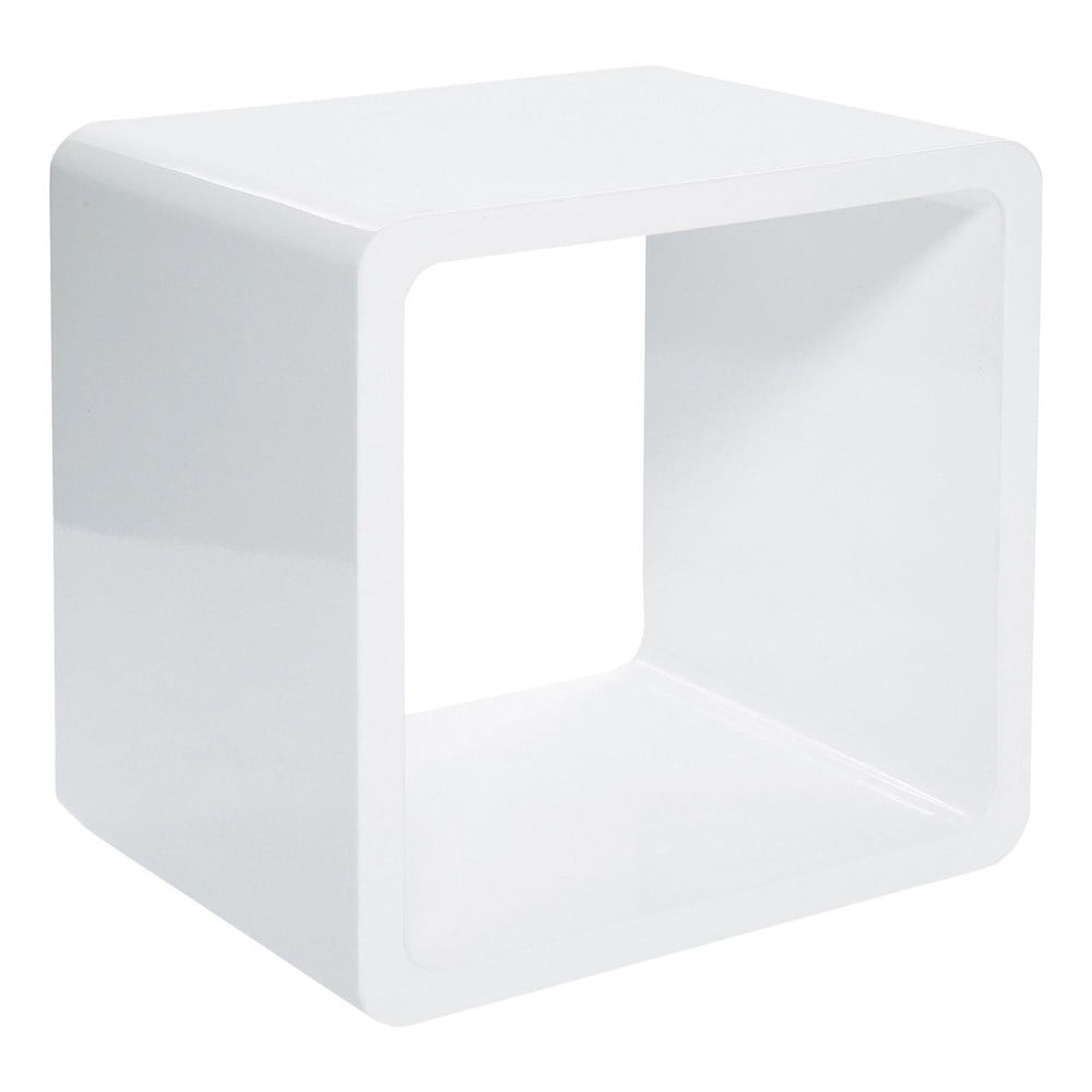 Biely policový diel Kare Design Cube