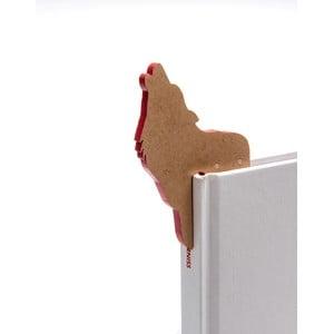 Záložka do knižky v tvare vlka Thinking gifts Woodland