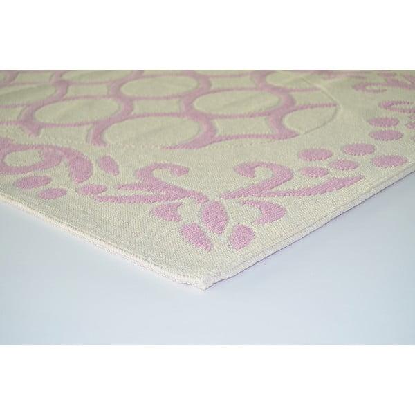 Staroružový odolný koberec Vitaus Celine, 120x180cm