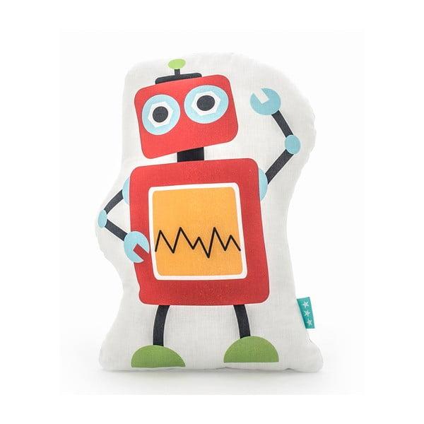 Bavlnený detský vankúšik Mr. Fox Robots 40×30cm