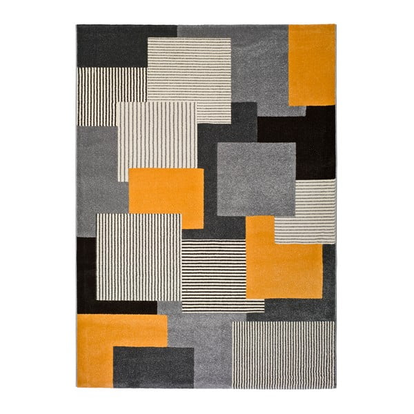 Sivý koberec Universal Leo Square, 140 × 200 cm