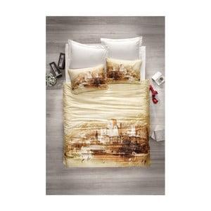 Obliečky z bavlneného saténu s plachtou Mangi, 200×220cm