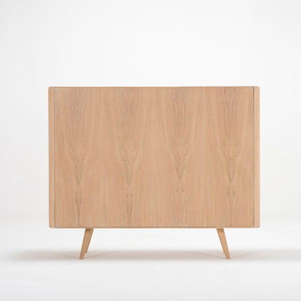 Komoda z dubového dreva Gazzda Ena Two, 135 x 42 x 110 cm