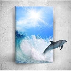 Nástenný 3D obraz Mosticx Dolphin, 40×60 cm