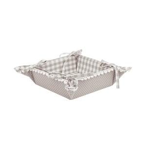 Košík na pečivo Basic Hearts, sivý