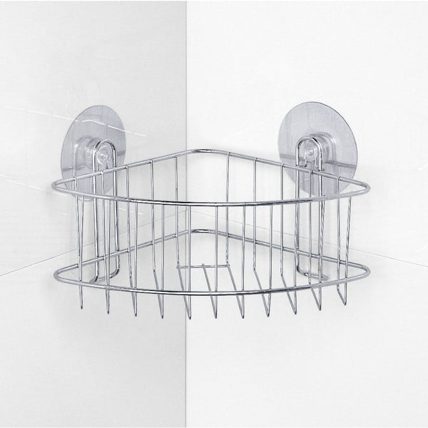 Samodržiaca rohová polička do sprchy Wenko Static-Loc