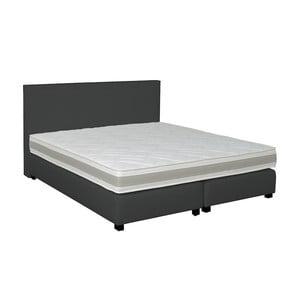 Tmavohnedá boxspring posteľ Revor Deco, 140 x 200 cm