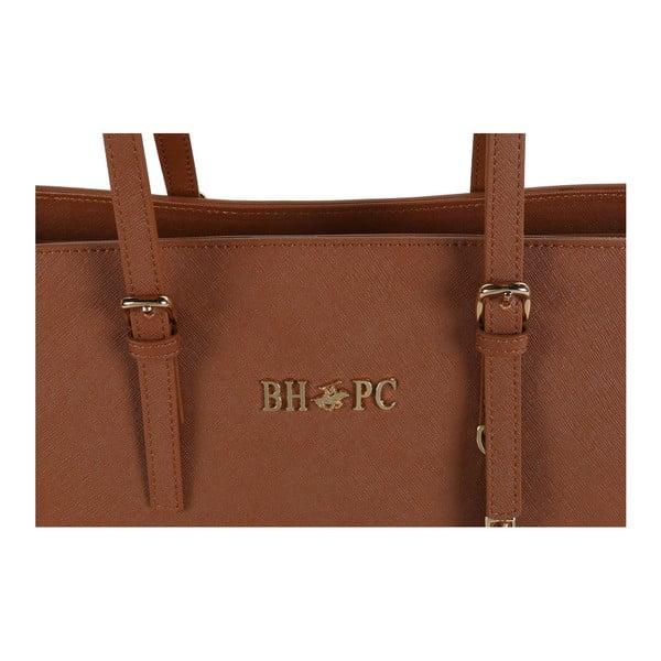 Hnedá kabelka z eko kože Beverly Hills Polo Club Anne