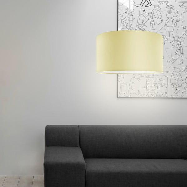 Stropná lampa Tres, écru/biela, priemer 40 cm