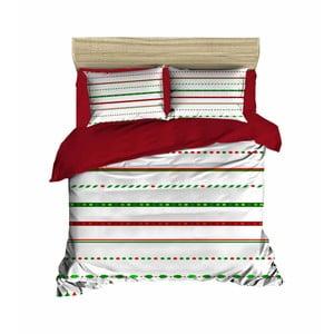 Vianočné obliečky na dvojlôžko s plachtou Didier, 200×220 cm