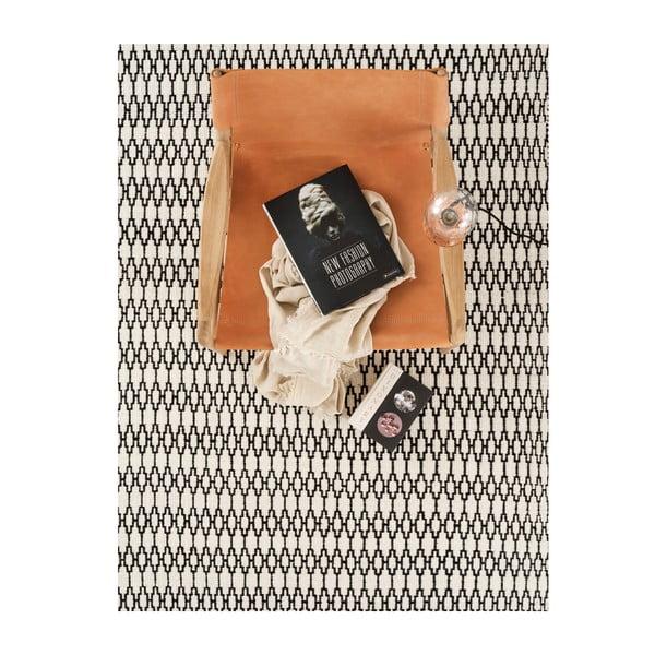 Vlnený koberec Linie Design Elliot White Black, 170x240 cm