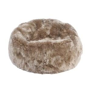 Sivo-hnedý sedací vak z ovčej kožušiny Auskin, výška 50 cm