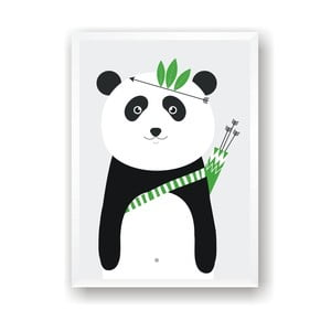 Plagát Nord & Co Panda, 21 x 29 cm