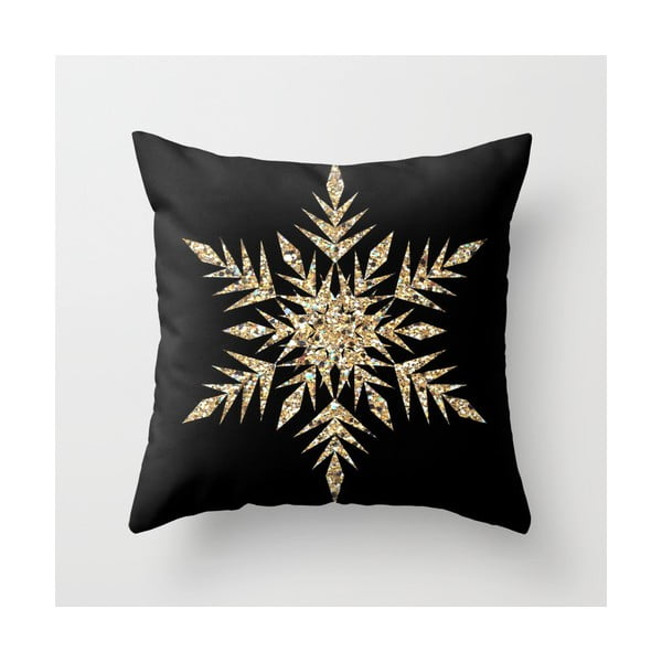 Obliečka na vankúš Snowflake Gold, 45x45 cm