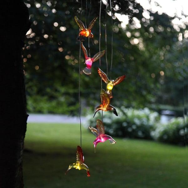Závesná solárna LED dekorácia Best Season Hummingbirds, 6svetielok