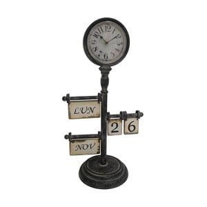 Stolové hodiny s kalendárom Antic Line