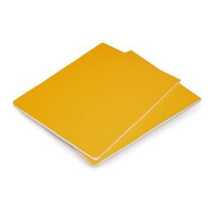 Sada 2 žltých blokov Moleskine Volant