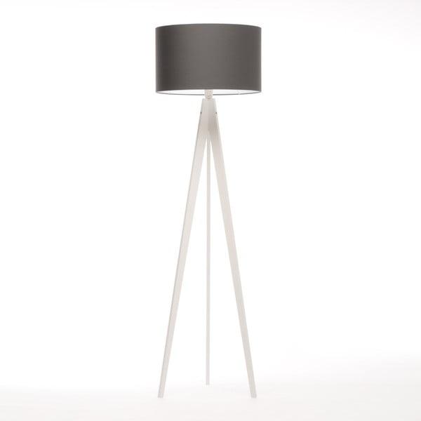 Čierna stojacia lampa 4room Artist, biela breza lakovaná, 150 cm