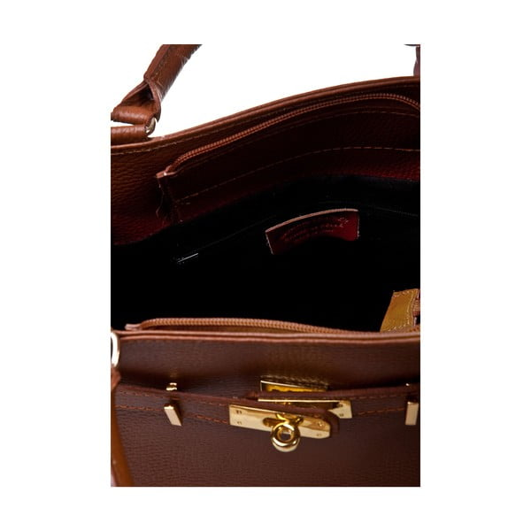 Kožená kabelka Italia 183 Cognac
