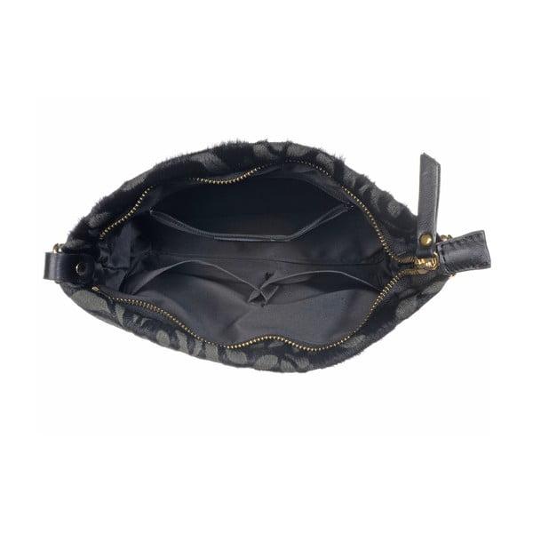 Kožená menšia kabelka Moon Fan Black
