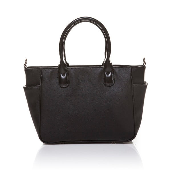 Kožená kabelka do ruky Marta Ponti Pocket Deux, čierna