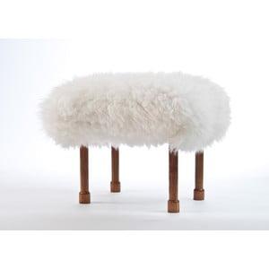 Stolička z ovčej kože Myfanwy Ivory