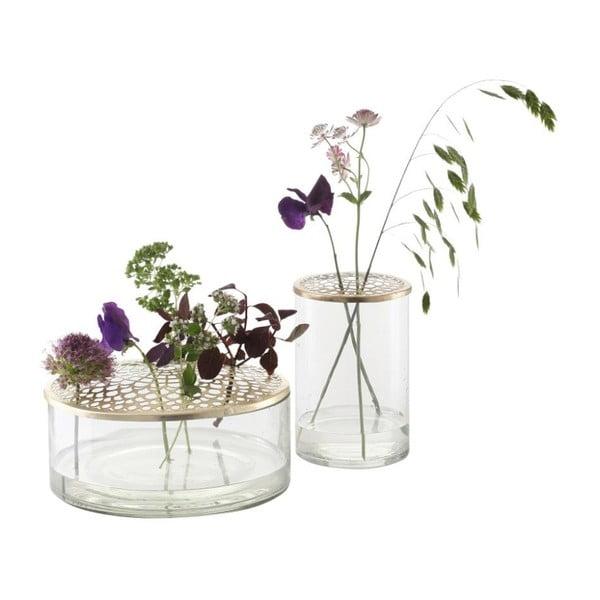 Sklenená váza A Simple Mess Kassandra Brass, ⌀ 10 cm