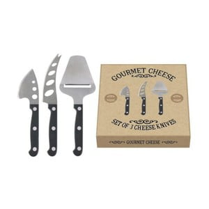 Sada 3 nožov na syry Creative Tops Gourmet Cheese