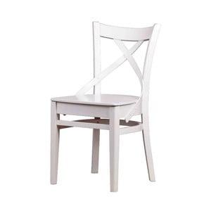 Biela jedálenská stolička Durbas Style Valentino