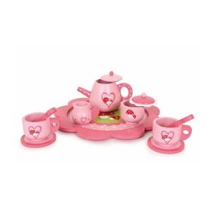 Ružový čajový set Legler Toadstool