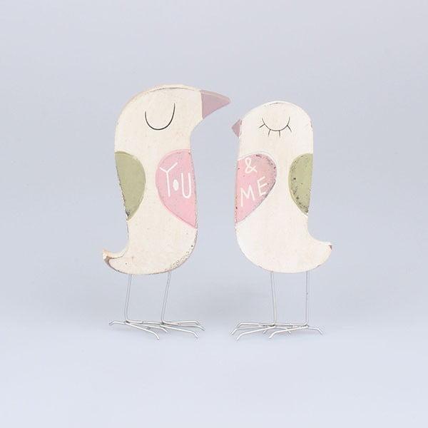 Sada 2 dekorácií Vtáčiky You&Me Small
