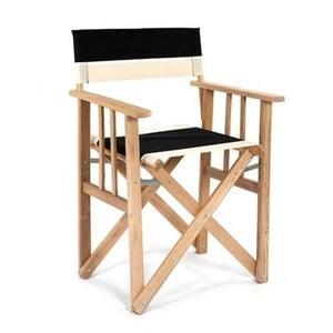 Skladacia stolička Director, čiernobiela