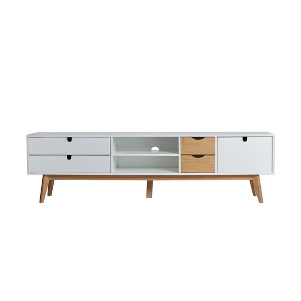 Televízny stolík s bielymi detailmi Marckeric Mila, 180 × 37 cm