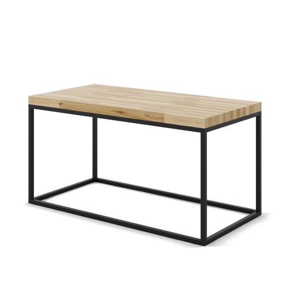 Veľký konferenčný stôl z dubového dreva s čiernou podnožou Absynth Noi